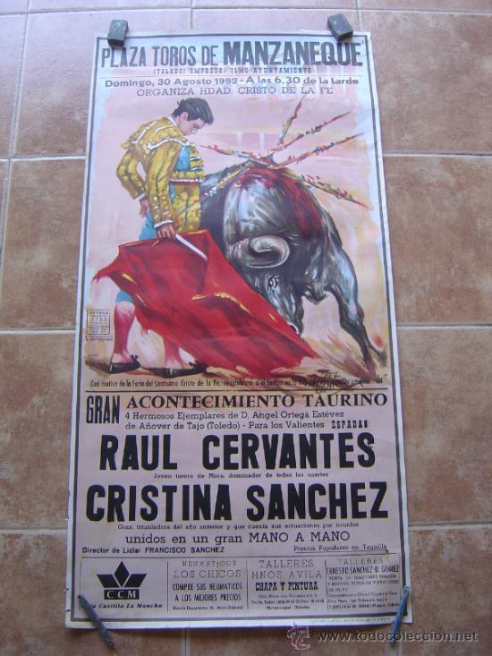 PLAZA DE TOROS DE MANZANEQUE 1992 - LITOGRAFIA - ILUSTRADOR: LOPEZ CANITO (Coleccionismo - Carteles Gran Formato - Carteles Toros)