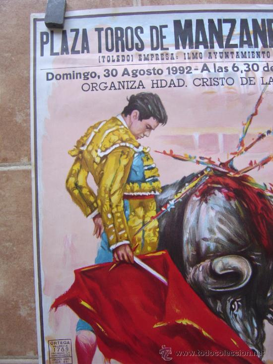 Carteles Toros: PLAZA DE TOROS DE MANZANEQUE 1992 - LITOGRAFIA - ILUSTRADOR: LOPEZ CANITO - Foto 7 - 37773799