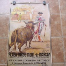 Carteles Toros: PLAZA DE TOROS DE MONT DE MARSAN (FRANCIA) 1989 LITOGRAFIA - ILUSTRADOR: LOPEZ CANITO. Lote 37790232