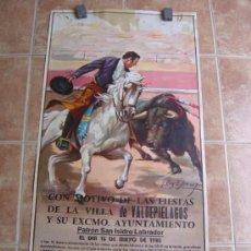 Carteles Toros: PLAZA DE TOROS DE LA VILLA DE VALDEPIELAGOS 1980 LITOGRAFIA - ILUSTRADOR: CROS ESTREMS. Lote 37790609