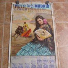 Carteles Toros: PLAZA DE TOROS DE MADRID FERIA DE SAN ISIDRO 1991 LITOGRAFIA - ILUSTRADOR: CROS ESTREMS. Lote 122071682