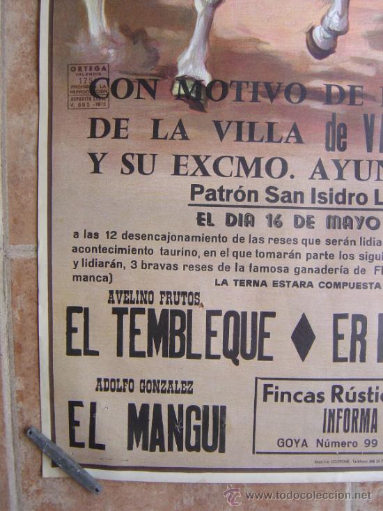 Carteles Toros: PLAZA DE TOROS DE LA VILLA DE VALDEPIELAGOS 1980 LITOGRAFIA - ILUSTRADOR: CROS ESTREMS - Foto 7 - 37790609