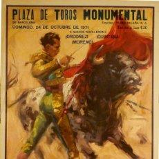 Carteles Toros: CARTEL PLAZA DE TOROS MONUMENTAL. Lote 37812806