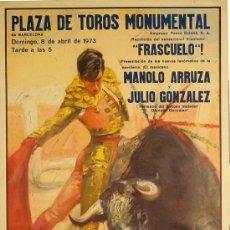 Carteles Toros: CARTEL PLAZA DE TOROS MONUMENTAL. Lote 37812852