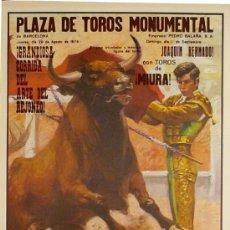 Carteles Toros: CARTEL PLAZA DE TOROS MONUMENTAL. Lote 105105007