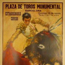 Carteles Toros: CARTEL PLAZA DE TOROS MONUMENTAL. Lote 37832189