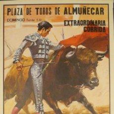 Carteles Toros: CARTEL PLAZA DE TOROS ALMUÑECAR J. BERNADO. Lote 37884063