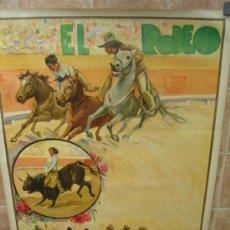 Carteles Toros: CARTEL DE GRAN FORMATO EL RODEO - SIN IMPRIMIR- LITOGRAFIA AÑOS 40 ILUSTRADOR RUANO LLOPIS. Lote 37913527