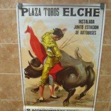 Carteles Toros: CARTEL DE TOROS PLAZA DE TOROS DE ELCHE 1994 GRAN FORMATO LITOGRAFIA ILUSTRADOR RUANO LLOPIS. Lote 37913574