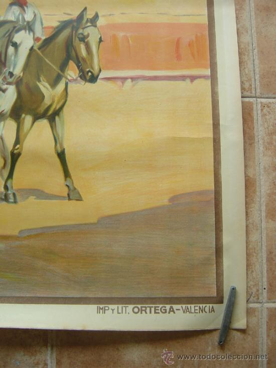 Carteles Toros: CARTEL DE GRAN FORMATO EL RODEO - SIN IMPRIMIR- LITOGRAFIA AÑOS 40 ILUSTRADOR RUANO LLOPIS - Foto 4 - 37913527