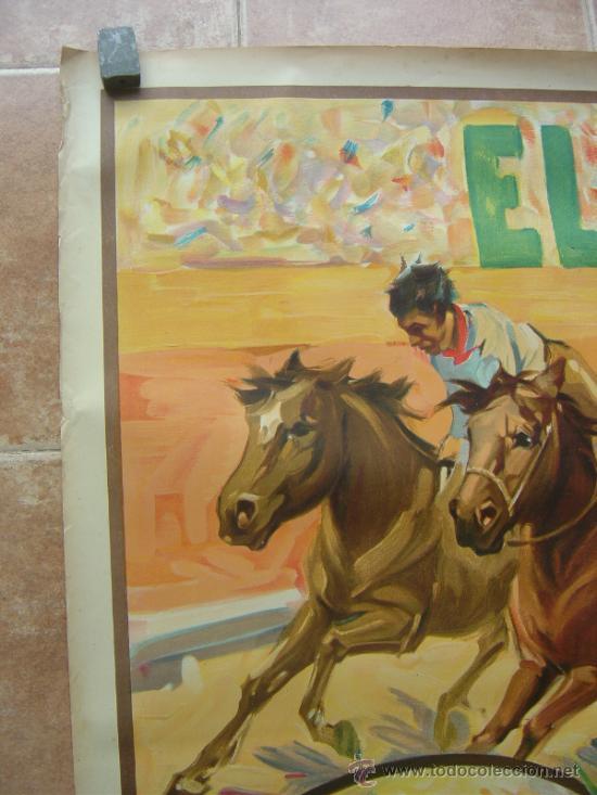 Carteles Toros: CARTEL DE GRAN FORMATO EL RODEO - SIN IMPRIMIR- LITOGRAFIA AÑOS 40 ILUSTRADOR RUANO LLOPIS - Foto 5 - 37913527
