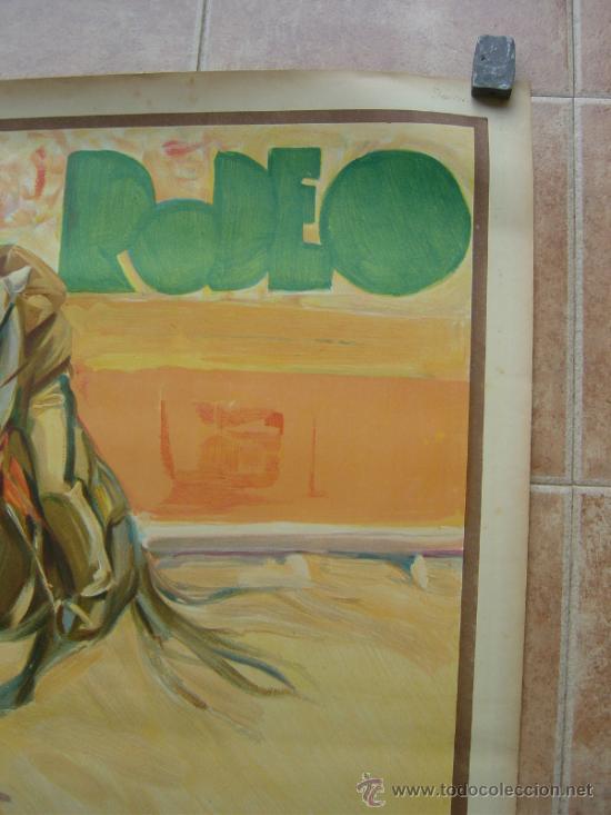 Carteles Toros: CARTEL DE GRAN FORMATO EL RODEO - SIN IMPRIMIR- LITOGRAFIA AÑOS 40 ILUSTRADOR RUANO LLOPIS - Foto 7 - 37913527
