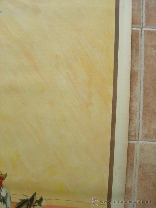 Carteles Toros: CARTEL DE GRAN FORMATO EL RODEO - SIN IMPRIMIR- LITOGRAFIA AÑOS 40 ILUSTRADOR RUANO LLOPIS - Foto 8 - 37913527