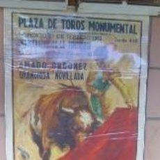 Carteles Toros: INTERESANTE CARTEL DE TOROS PLAZA MONUMENTAL BARCELONA 1962 A.ORDOÑEZ A VAZQUEZ II A.HERNANDO. Lote 38734909