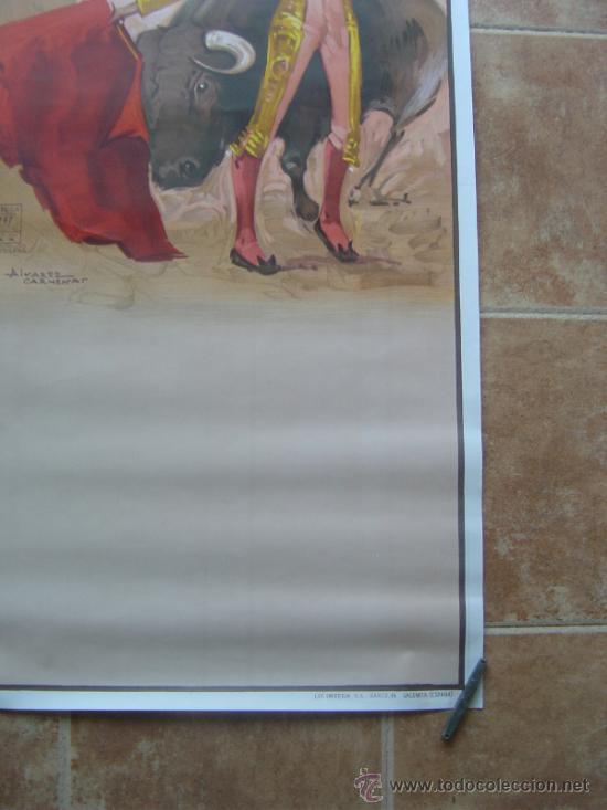 Carteles Toros: CARTEL DE TOROS SIN IMPRIMIR LITOGRAFIA ILUSTRADOR : ALVAREZ CARMENAS - Foto 4 - 38042166
