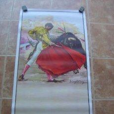 Carteles Toros: CARTEL DE TOROS SIN IMPRIMIR - LITOGRAFIA- ILUSTRADOR CROS ESTREMS. Lote 38058647
