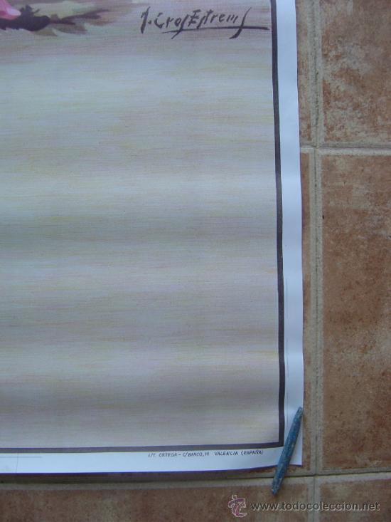 Carteles Toros: CARTEL DE TOROS SIN IMPRIMIR - LITOGRAFIA- ILUSTRADOR CROS ESTREMS - Foto 4 - 38058647