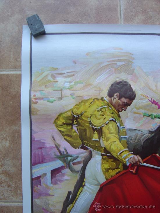 Carteles Toros: CARTEL DE TOROS SIN IMPRIMIR - LITOGRAFIA- ILUSTRADOR CROS ESTREMS - Foto 3 - 38058647