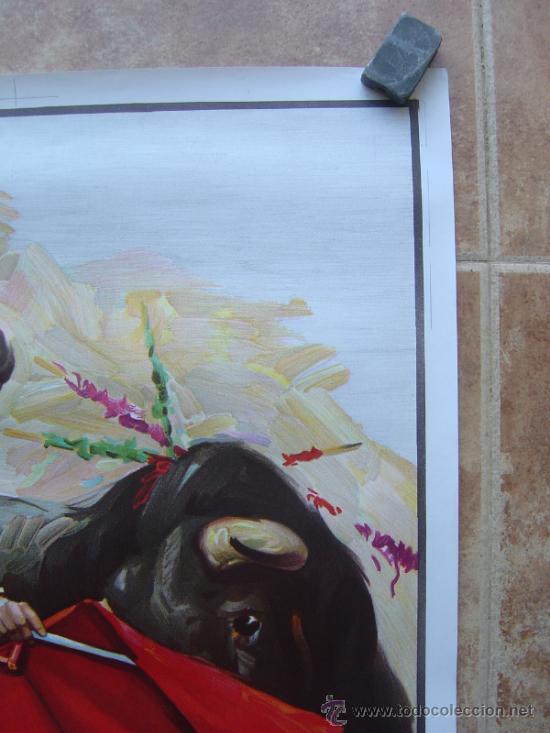 Carteles Toros: CARTEL DE TOROS SIN IMPRIMIR - LITOGRAFIA- ILUSTRADOR CROS ESTREMS - Foto 2 - 38058647