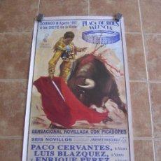 Carteles Toros: CARTEL DE TOROS PLAZA DE TOROS VALENCIA 8 DE AGOSTO 1993. Lote 38082298