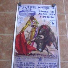 Carteles Toros: CARTEL DE TOROS PLAZA DE TOROS DE VALENCIA 1993 LITOGRAFIA-ILUSTRADOR: CROS ESTREMS. Lote 38082597