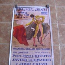 Carteles Toros: CARTEL DE TOROS PLAZA DE TOROS DE VALENCIA 1995 LITOGRAFIA-ILUSTRADOR: ALVAREZ CARMENAS. Lote 38082612