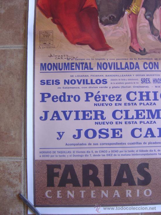 Carteles Toros: CARTEL DE TOROS PLAZA DE TOROS DE VALENCIA 1995 LITOGRAFIA-ILUSTRADOR: ALVAREZ CARMENAS - Foto 8 - 38082612