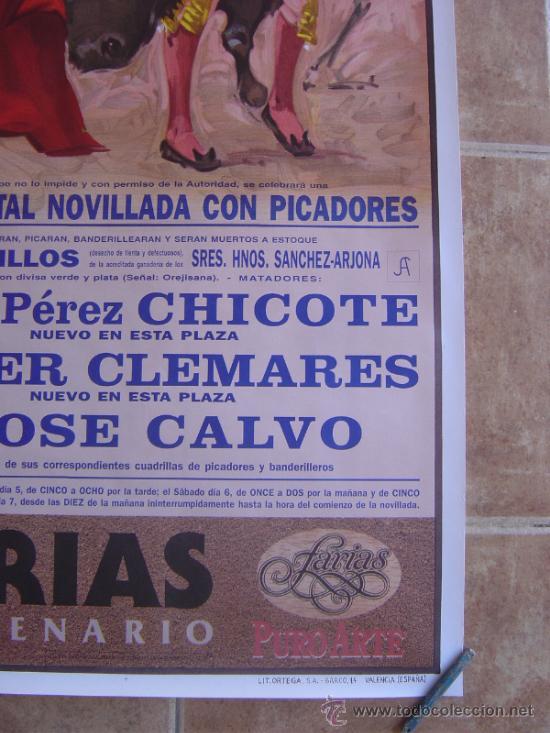 Carteles Toros: CARTEL DE TOROS PLAZA DE TOROS DE VALENCIA 1995 LITOGRAFIA-ILUSTRADOR: ALVAREZ CARMENAS - Foto 6 - 38082612