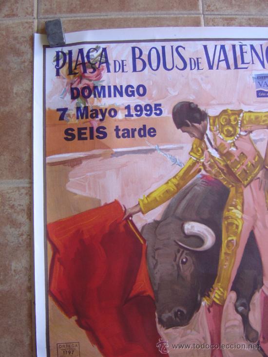 Carteles Toros: CARTEL DE TOROS PLAZA DE TOROS DE VALENCIA 1995 LITOGRAFIA-ILUSTRADOR: ALVAREZ CARMENAS - Foto 4 - 38082612
