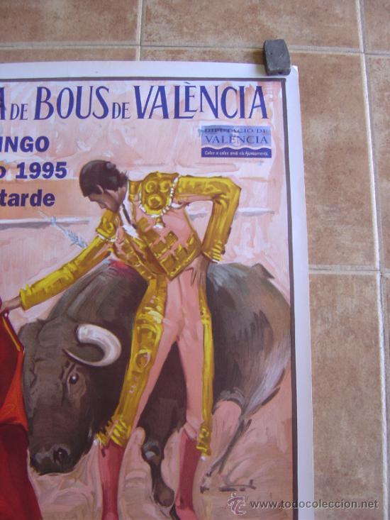 Carteles Toros: CARTEL DE TOROS PLAZA DE TOROS DE VALENCIA 1995 LITOGRAFIA-ILUSTRADOR: ALVAREZ CARMENAS - Foto 2 - 38082612