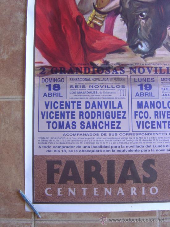 Carteles Toros: CARTEL DE TOROS PLAZA DE TOROS DE VALENCIA 1993 LITOGRAFIA-ILUSTRADOR: CROS ESTREMS - Foto 5 - 38082597