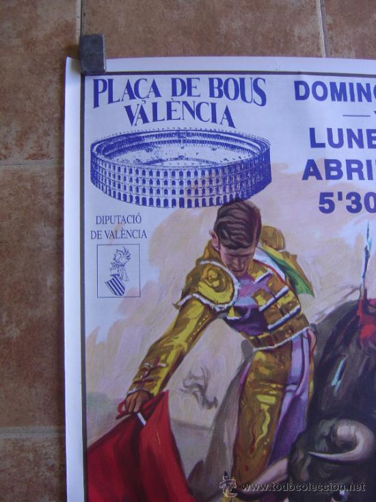 Carteles Toros: CARTEL DE TOROS PLAZA DE TOROS DE VALENCIA 1993 LITOGRAFIA-ILUSTRADOR: CROS ESTREMS - Foto 3 - 38082597