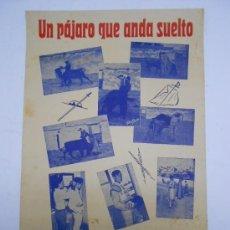 Carteles Toros: TOROS. CARTEL JOSÉ RIVERA EL PÁJARO DE CARTAGENA ( MURCIA) 1965 32X49 CMS. Lote 38992323