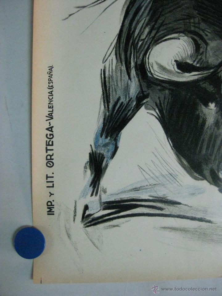 Carteles Toros: CARTEL TOROS - ILUSTRADOR: RUANO LLOPIS - PLAZA PARTIDA - SIN IMPRIMIR - LITOGRAFIA - Foto 2 - 118993862