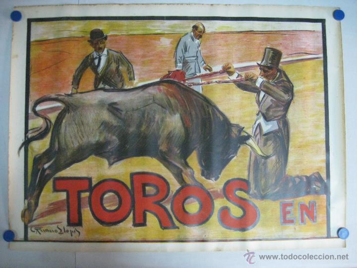 CARTEL TOROS - ILUSTRADOR: RUANO LLOPIS - CABECERA - SIN IMPRIMIR - LITOGRAFIA (Coleccionismo - Carteles Gran Formato - Carteles Toros)