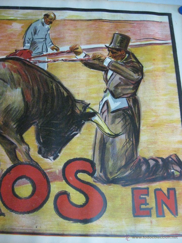 Carteles Toros: CARTEL TOROS - ILUSTRADOR: RUANO LLOPIS - CABECERA - SIN IMPRIMIR - LITOGRAFIA - Foto 3 - 54701358