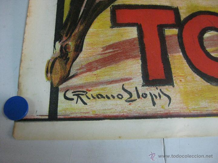 Carteles Toros: CARTEL TOROS - ILUSTRADOR: RUANO LLOPIS - CABECERA - SIN IMPRIMIR - LITOGRAFIA - Foto 4 - 54701358