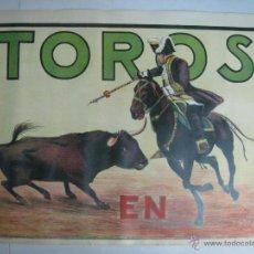 Carteles Toros: CARTEL TOROS - ILUSTRADOR: RUANO LLOPIS - CABECERA REJONEADOR PORTUGUES - SIN IMPRIMIR - LITOGRAFIA. Lote 176251490