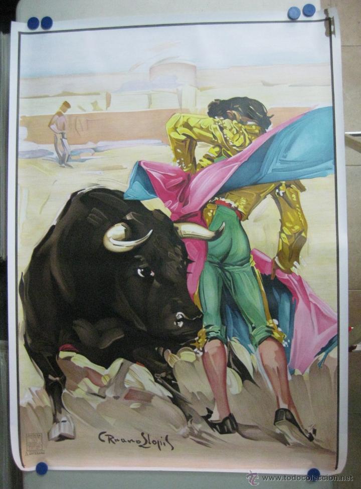 CARTEL TOROS - ILUSTRADOR: RUANO LLOPIS - SIN IMPRIMIR - LITOGRAFIA (Coleccionismo - Carteles Gran Formato - Carteles Toros)