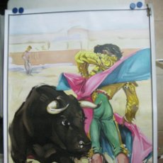 Carteles Toros: CARTEL TOROS - ILUSTRADOR: RUANO LLOPIS - SIN IMPRIMIR - LITOGRAFIA. Lote 169873336