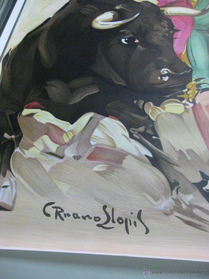Carteles Toros: CARTEL TOROS - ILUSTRADOR: RUANO LLOPIS - SIN IMPRIMIR - LITOGRAFIA - Foto 2 - 169873336