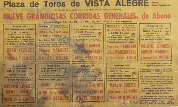 Carteles Toros: CARTEL 75 ANIVERSARIO FUNDACION JUNTA ADMINISTARTIVA PLAZA TOROS VISTA ALEGRE BILBAO 1976 - CORRIDAS - Foto 6 - 39903469