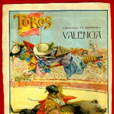 Carteles Toros: CARTEL TOROS, PLAZA DE VALENCIA , FERIA 1915, GALLO GALLITO BELMONTE, ORIGINAL RB. Lote 186282627