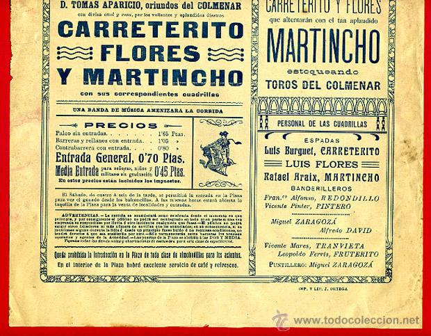 Carteles Toros: CARTEL TOROS, PLAZA DE VALENCIA , 1914 , ORIGINAL R24 - Foto 2 - 40278872