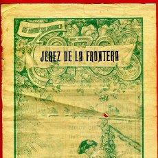 Carteles Toros: CARTEL TOROS, PLAZA DE JEREZ , CADIZ , 1923 , ANTIGUO , ORIGINAL M37. Lote 40280735