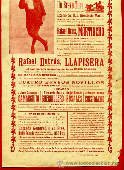 Carteles Toros: CARTEL TOROS, PLAZA DE VALENCIA 1914 , ANTIGUO , ORIGINAL M63 - Foto 2 - 40293647