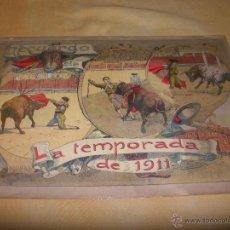 Carteles Toros: ¡SUPER BARATA! LAMINA DE TOROS RECUERDO DE LA TEMPORADA DEL AÑO 1911 38 X 27 CM. Lote 41247443
