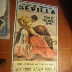 Carteles Toros: CARTEL DE TOROS GRANDE. Lote 41405569