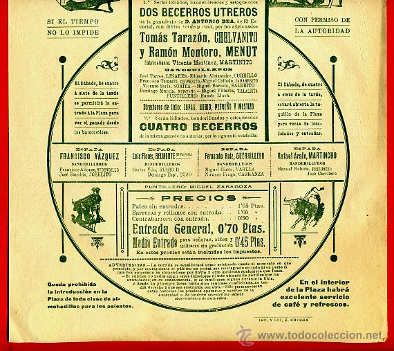 Carteles Toros: CARTEL TOROS, PLAZA DE VALENCIA , MAYO 1914 , ORIGINAL, M376 - Foto 2 - 41473130