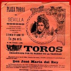 Carteles Toros: CARTEL TOROS, PLAZA SEVILLA , 1911 , ORIGINAL , M458. Lote 41492539
